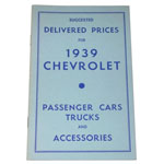 1939 Advertised Delivered Prices booklet