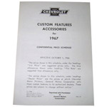 1967 Custom features booklet