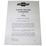1970 Custom features booklet