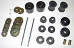 1967-1972 Cab and radiator core support mount kit, Urethane