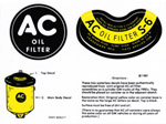 1936-1953 Oil filter decals