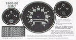 1960-1966 Gauge cluster refacing decals