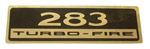 1961-1963 Valve cover decal