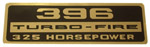1965 Valve cover decal