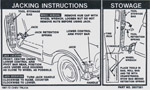 1967-1972 Jacking instruction decal