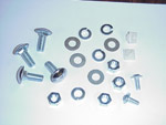 1967-1987 Mounting kit for rear license plate bracket and lamp