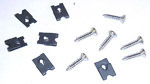 1964-1966 Headlight bezel screw and clip set
