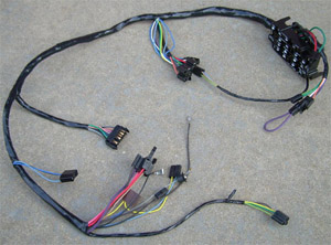 1969-1972 Main underdash with factory gauges wiring harness