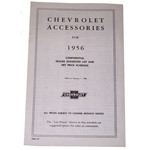 1956 Accessory listing