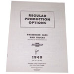 1949 Regular production options booklet