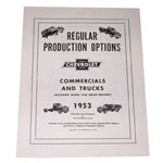 1953 Regular production options booklet