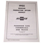 1955 (1st Series) Regular production options booklet
