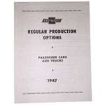 1947 Regular production options booklet