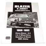 1969-1982 Blazer and Jimmy Limited Edition Extra book