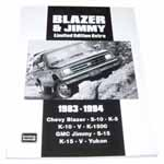 1983-1994 Blazer and Jimmy Limited Edition Extra book