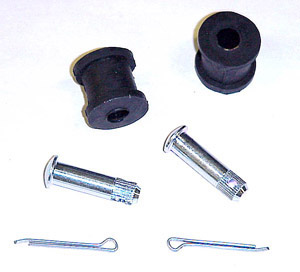 1936-1949 Rubber bushings and pins for <B>one</B> single lever knee action shock absorber link