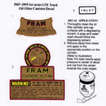 1936-1962 Oil filter decals