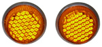 1936-1991 Reflector license fasteners with amber plastic lenses
