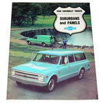 1968 Sales brochure for Suburbans and Panels