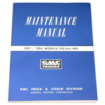 1947-1954 Shop maintenance manual book
