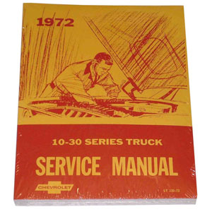 1972 Chassis service manual book