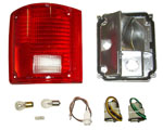 1973-1987 Taillight housing and lens assembly